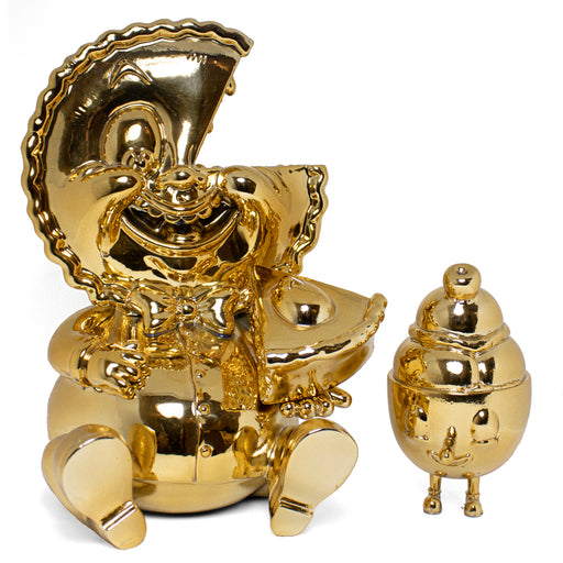ALL GOLD Mister Self Indulgence & Lil' Scoopy  by  Nouar x  Martian Toys