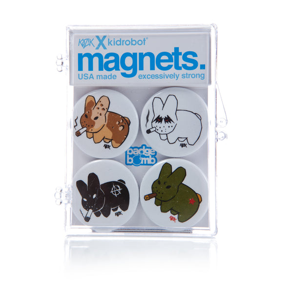 Kozik Smorkin' Labbit Magnets - White