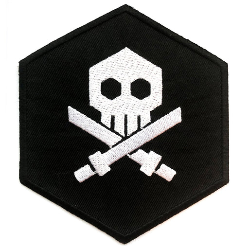 "3"" Bulletpunk Iron On Patch BLK"