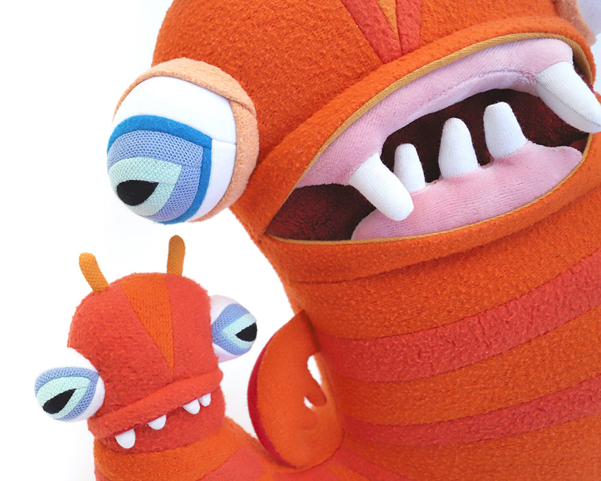 PLUSHtheLIMITS  -  Leonard & Lance the Two-Headed Sea Worm  by  Cotton Monster