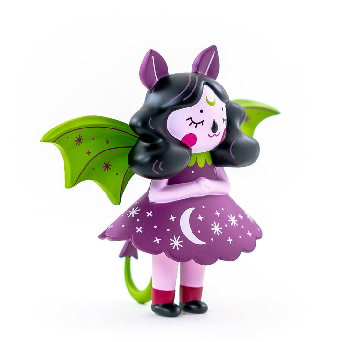 Midnight Moon Bat Aurora  by  Nightly Made  x  Martian Toys