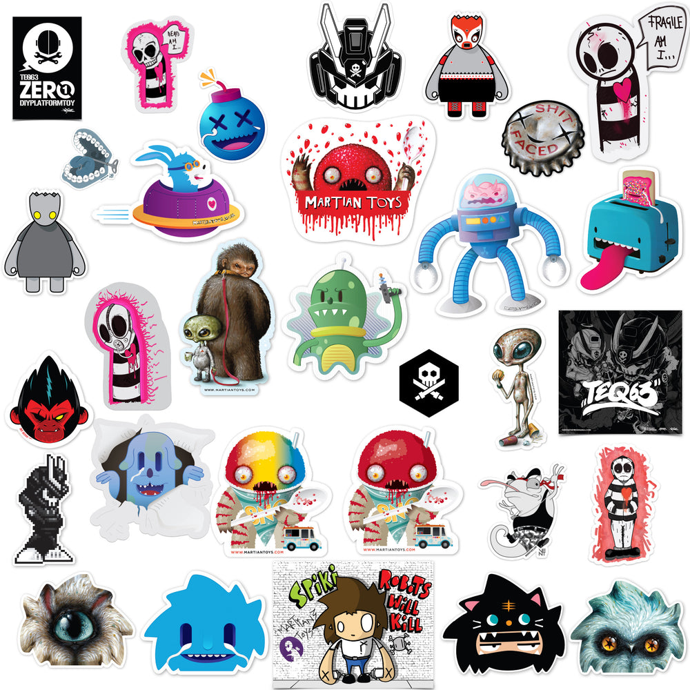 Stickers, Stickers, Stickers! by Martian Toys