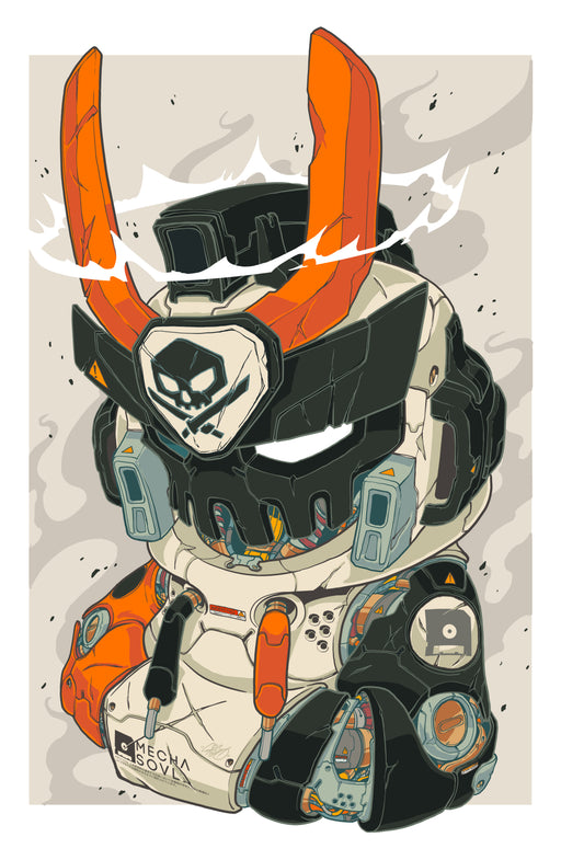 MECHA SOUL ArtistPrint by  Clog2  x  Quiccs  x  Martian Toys
