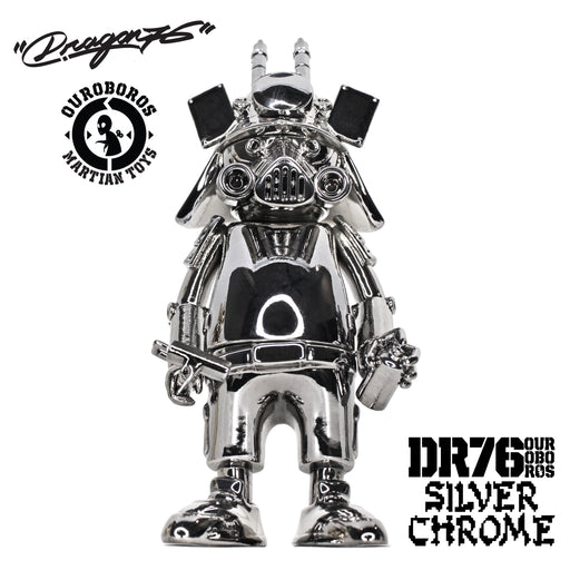 "DR76 Ouroboros SILVER CHROME 6"" by  Dragon76  x  Martian Toys"