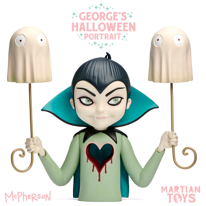 """George's Halloween Portrait"" Vinyl Art Sculpture  by  Tara McPherson  x  Martian Toy"