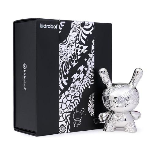 "New Money 5""  SILVER Ed. Metal Dunny Art Figure by Tristan Eaton  x  Kid Robot"