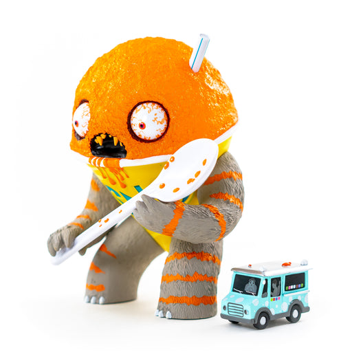 Abominable Snow Cone ORANGE Flavored  by Jason Limon  x  Martian Toys