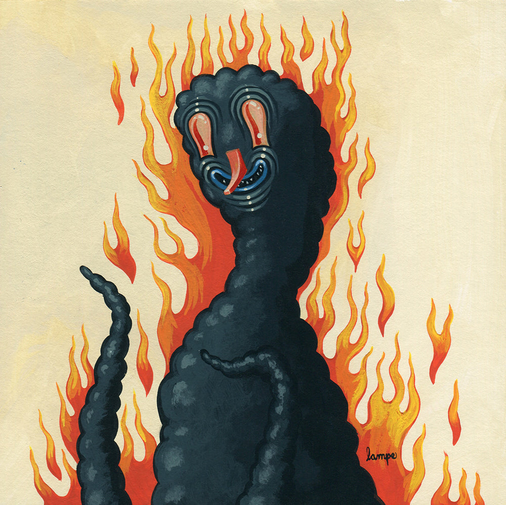 DumbSummons  -  On Fire Smog Guy  by  Travis Lampe