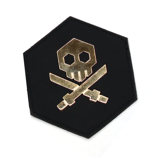 NEW QUICCS 1:1 Scale Bullet Punk Patch WHITE & GOLD