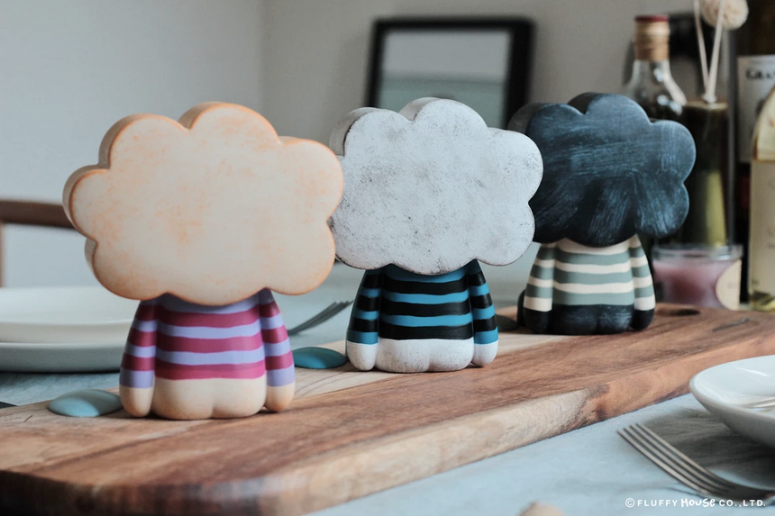 "Mr. White Cloud  ""Black Cloud"" by Fluffy House x Amanda Visell"