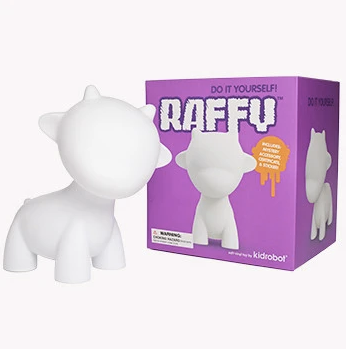 "DIY Raffy 7"" White Edition by kidrobot"