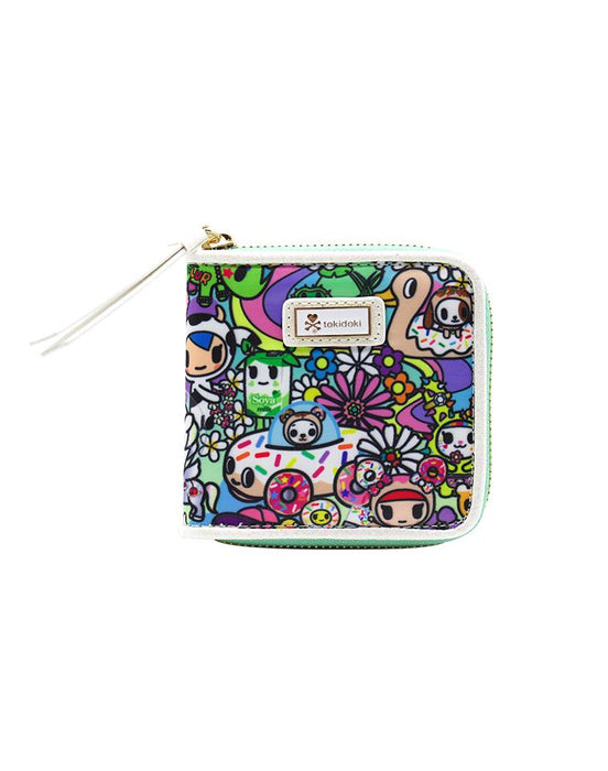 Flower Power Small Zip Around Wallet