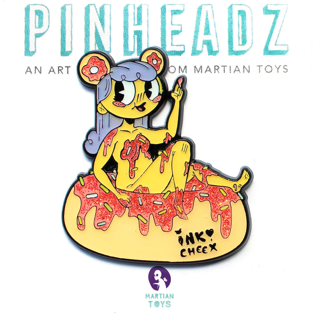 PinHeadz - Spicy Donut - Donut Girl Pin