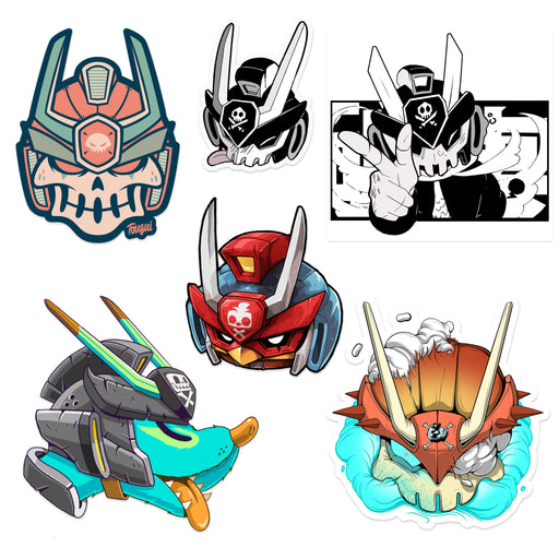 Team Teq Stickers by Various Artists x Martian Toys