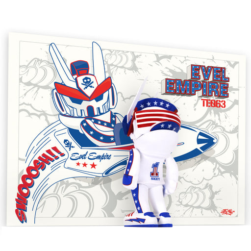 "Evel Empire Teq63 Artist Series 6"". by  SketOne  x  Quiccs  x  Martian Toys"