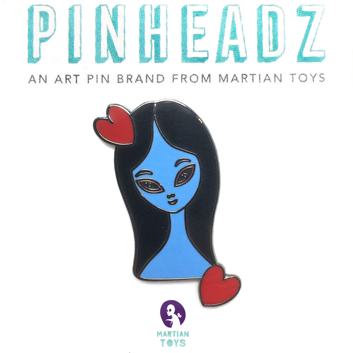 PinHeadz - Ana Bagayan - Blue Girl with Hearts Pin