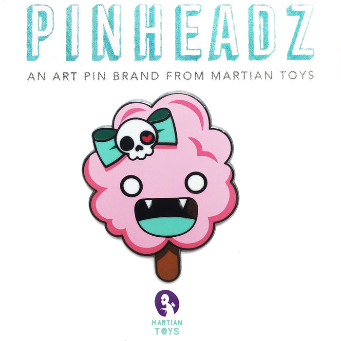 PinHeadz - Caramel Aw - Evil Cotton Candy Monster Pin