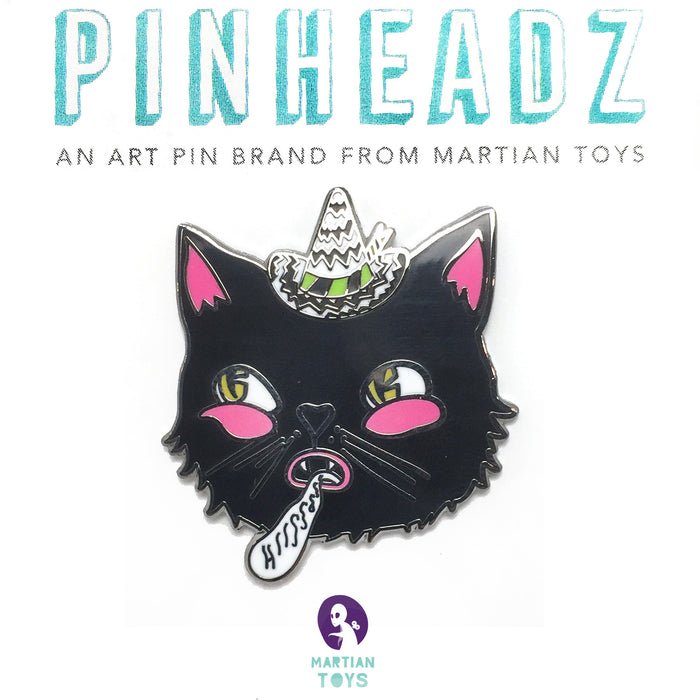 PinHeadz - Defective Pudding - Hiss Cat Pin