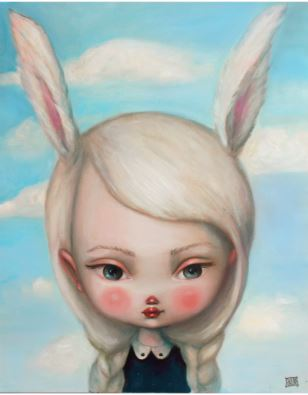 Kate Domina - Prints on Wood - Bunny Ears