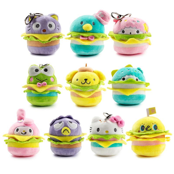 Hello Sanrio Plush Burger Charms by Kidrobot