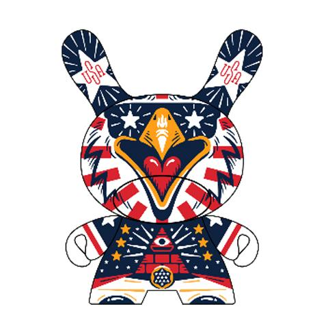 "Indie Spirit Memorial Day 3"" Dunny by KRONK"