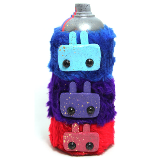 SayItDon'tSprayIt!  Fluffly Totem Can by Jay K Blue