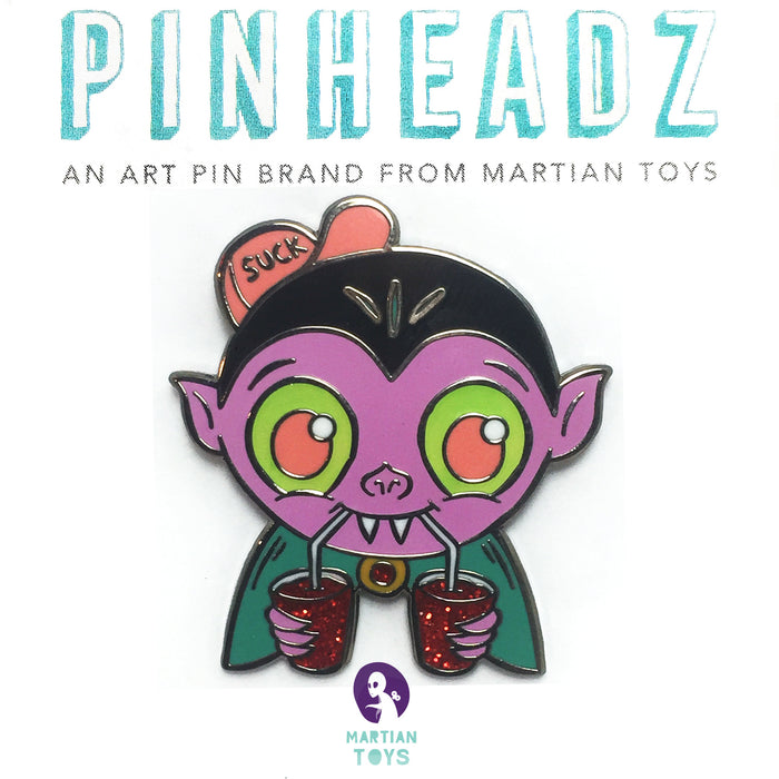PinHeadz - Jellykoe - Be Positive! Purple Glitter+GID