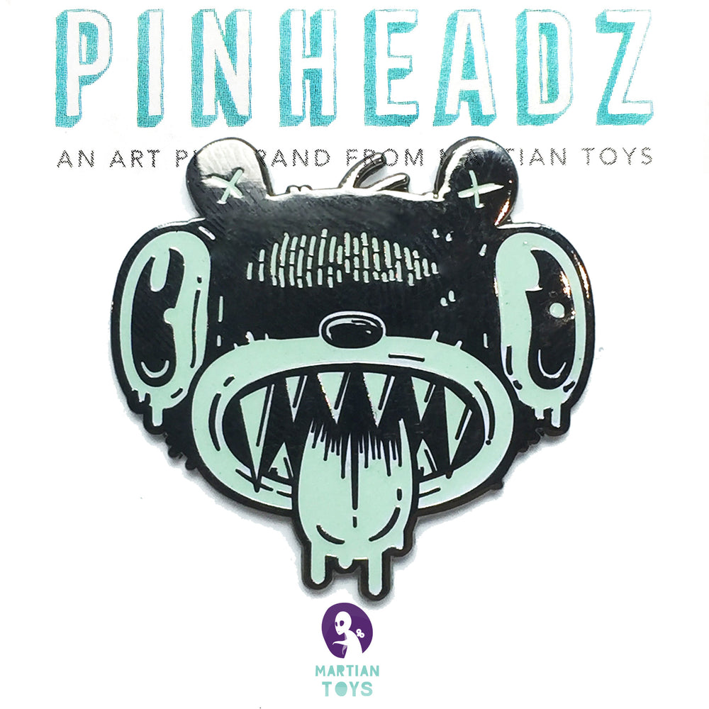 PinHeadz - Nate Bear - Bear Brains GID Pin