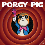 Porgy Pig Enamel Pin by Nathan Hamill