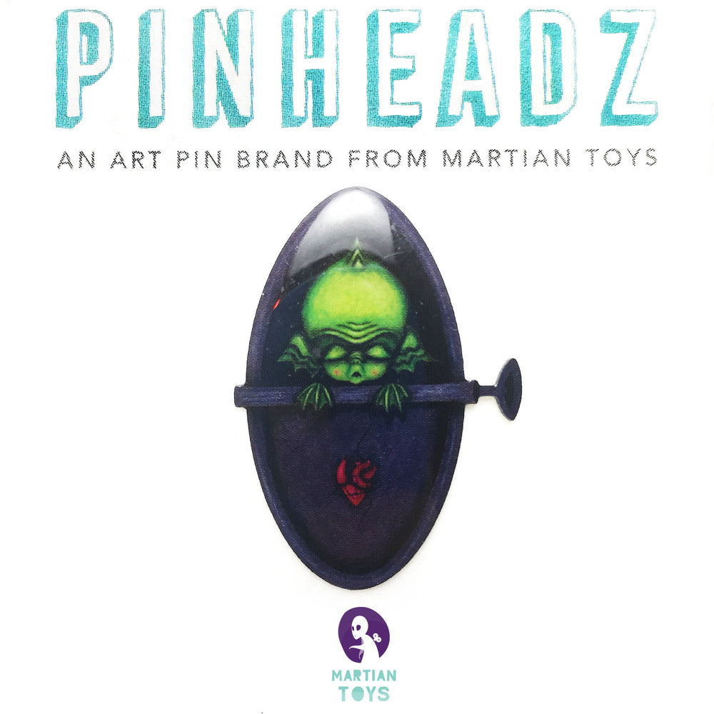 PinHeadz - The Moth Stigma - Alien Sardine Can Pin