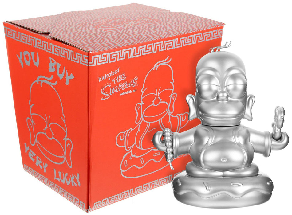 Homer Buddha SILVER by Simpsons x Kidrobot