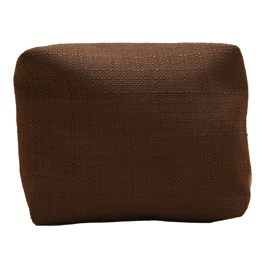 Heavy Cotton Textured Cosmetic Pouch
