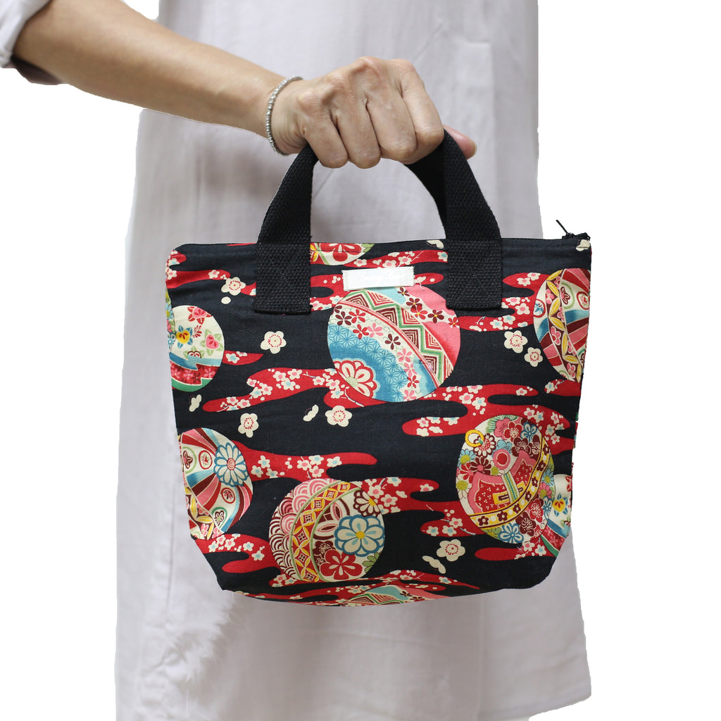 Classic Japanese Inspired Lunch Bag