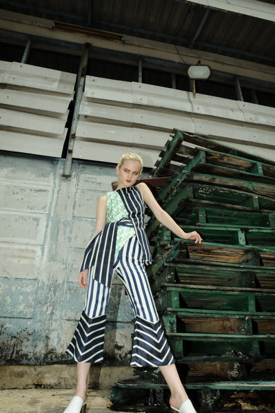 Double Striped Flare Pants