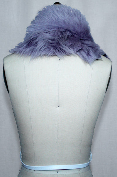 Lilac Toscana Fur Scarf with Leather Strap