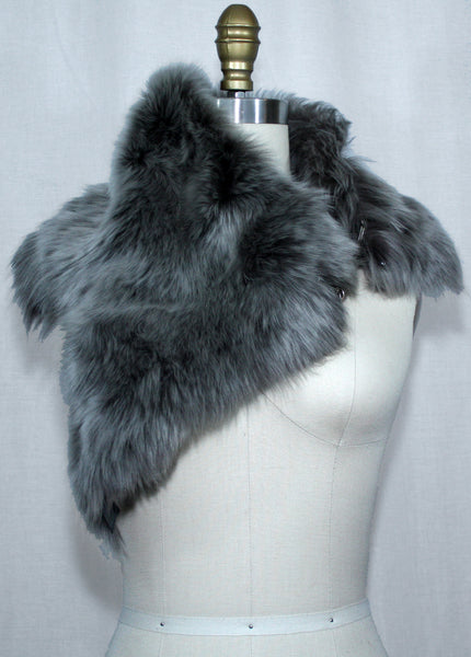 Grey Toscana Fur Scarf