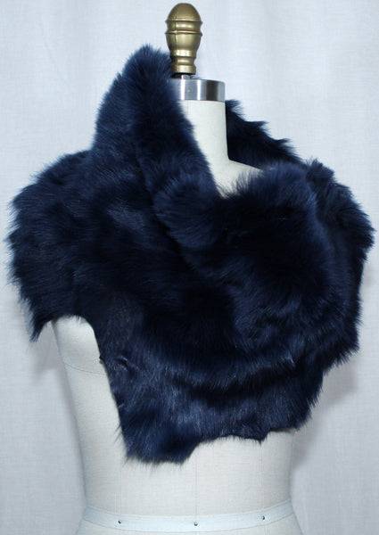 Midnight Blue Toscana Fur Scarf