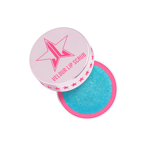 Jeffree Star Cosmetics Velour Lip Scrub in Blue Freeze scent and blue color