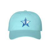 Blue Stitch Blue Blood Dad Hat | Image 1