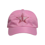 Satin Pink Dad Hat | Image 1