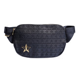 Black with star engraved logo cross body bag | Image 1