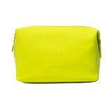 Neon green velour large makeup bag | Image 1