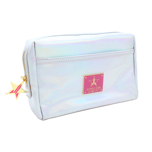 Holographic Silver Makeup Bag