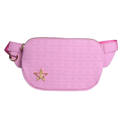 Baby pink with star engraved logo cross body bag