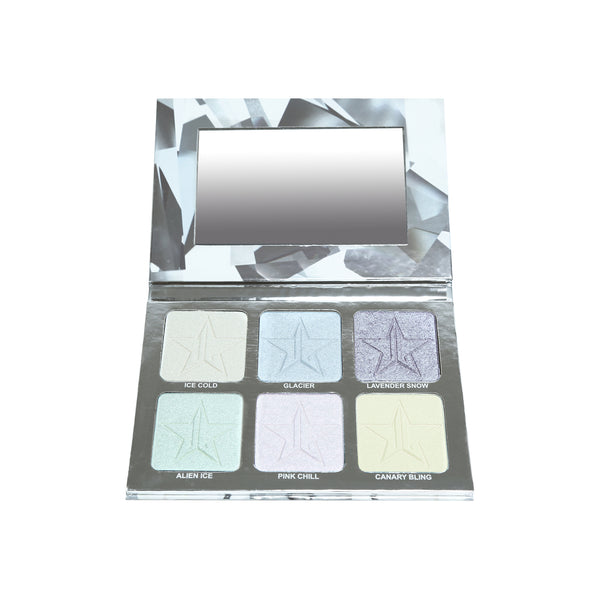 6 pastel icy toned skin frost highlighters
