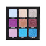 9 pan eyeshadow palette with mix of finishes and cool tone shades | Image 2