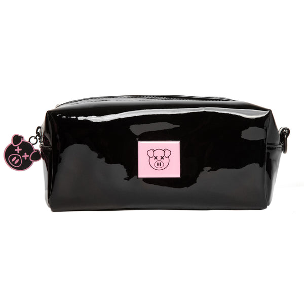 Shiny black accessory bag