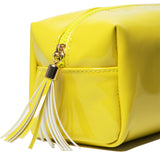 Chartreuse vinyl Jeffree Star Cosmetics accessory bag | Image 2