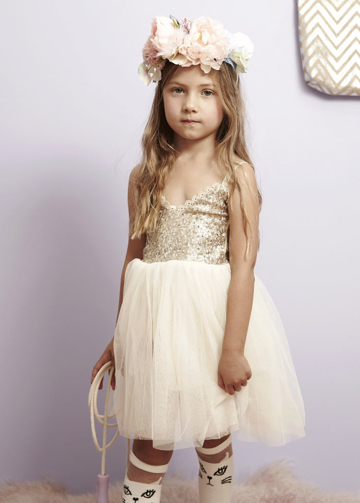 Goldie Tulle Dressdress - Gold Frankincense + Myrrh