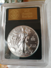 Engraved Silver Eagle